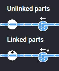 Linked parts